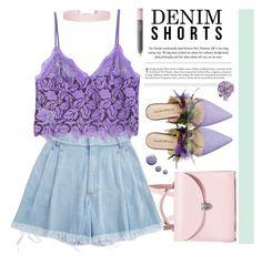 """- Chic Purple -"" by iamnotsuperman-ak ❤ liked on Polyvore featuring The Cambridge Satchel Company, Ksenia Schnaider, MANGO, Underground, Humble Chic, NARS Cosmetics, Pink, purple, DENIMCUTOFFS and summer2017"