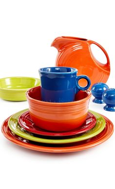 The color choices of Fiesta Dinnerware is so fun! #Sponsored