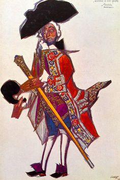 Leon Bakst. Costume of the Marquis de Luka. Sketch. Леон Бакст. Эскиз костюма маркиза де Лука