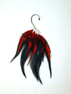 Feather Ear Cuff  FireBird FLAME  Red and by LoveJoyAdornments, $32.00  This matches my hair so gotta have it!!!!
