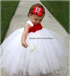 Red Christmas Tutu Dress, Tutu Dress, Peageant Wear, Flower Girl Tutu Dress 12 months to 2 Toddler