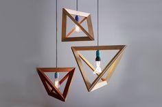 Minimalist wooden lamp by Herr Mandel