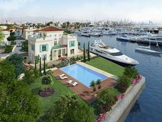 """Limassol Marina has launched its unique and highly anticipated """"Island Villas"""", which truly capture the essence of 'living on the sea. Description from limassolmarina.com. I searched for this on bing.com/images"""