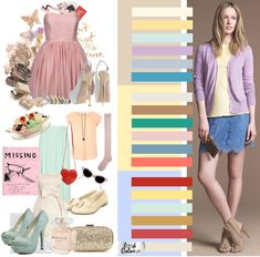 The color scheme of the romantic style dress, not me but I like to change it up a bit. Color Combinations For Clothes, Color Combos, Fashion Colours, Colorful Fashion, Colourful Outfits, Cool Outfits, Color Me Beautiful, Mode Inspiration, Color Trends