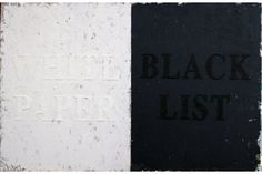 Huang Rui (Chinese b. 1952): White Paper, Black List (Chinese) 2012