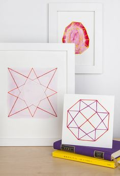 These days I've been obsessive about geometric patterns. The steadiness between easy and daring, mesmerizing and minimal seize my creativeness. Brush Embroidery, Dmc Embroidery Floss, Geometric Artwork, Geometric Patterns, String Crafts, String Art, Home Crafts, Crafts For Kids, Diy Crafts