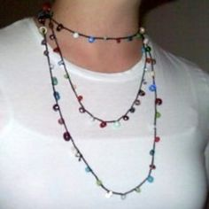Ravelry: Simple Crocheted Necklace with Glass Beads pattern by Kayla Kramer