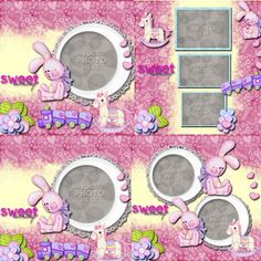 Digital Scrapbooking Kits | Pastel Bunny Template 2-(CatDes) | Babies, Boys, Family, Friends, Girls | MyMemories