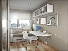 Simple study room for kids simple decoration for small bedroom amazing teenage bedroom layouts kids room design small study rooms study home decorators Small Apartment Bedrooms, Apartment Bedroom Decor, Small Room Bedroom, Bedroom Desk, Small Rooms, Small Apartments, Trendy Bedroom, Small Spaces, Diy Bedroom