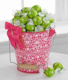 Lindt Lindor Chocolate Truffle Gift Pail for « Blast Gifts Lindt Truffles, Lindt Lindor, Lindt Chocolate, Chocolate Truffles, White Chocolate, Flower Company, Cupcakes, Easter Gift Baskets, Flowers For You