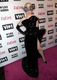 """TV personality Aquaria attends VH1's """"RuPaul's Drag Race"""" Season 10 Finale at The Theatre at Ace Hotel on June 8, 2018 in Los Angeles, California."""