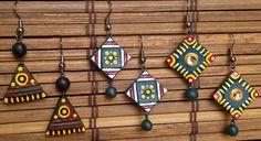 paintedEarth.in   Terracotta Trio Earrings
