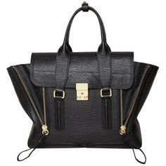 3.1 Phillip Lim Pashli Medium Satchel ($825) ❤ liked on Polyvore