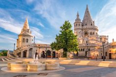 Photo about Fisherman s Bastion at Budapest - Hungary. Image of fisherman, morning, budapest - 60152210 Isla Margarita, Santorini, Last Minute Holidays, Chicken Paprikash, Central And Eastern Europe, G Adventures, Romanesque, Travel Deals, Expedia Travel