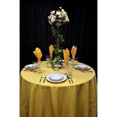 """Midas Event Supply Renaissance Tablecloth Size: 90"""" x 132"""", Color: Buttercup"""