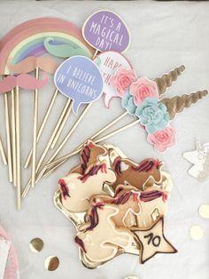 {Celebrate} Un anniversaire licorne DIY! 3rd Birthday, Birthday Celebration, Unicorn Party, Celebrities, Princesses, Party Ideas, Printable, Unicorns, 3 Year Olds