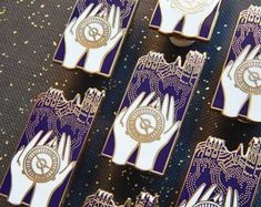 City in the Lights Alethiometer Enamel Pin - His Dark Materials #pinsandpatches