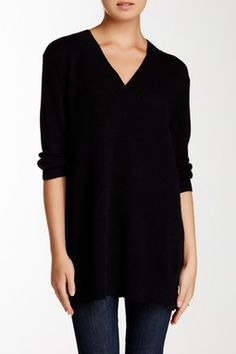 Griffen | Asymmetrical Colorblock Ribbed Cashmere Tunic Sweater ...