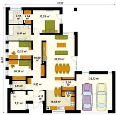 Hermoso diseño de casa de 170 metros cuadrados en una planta