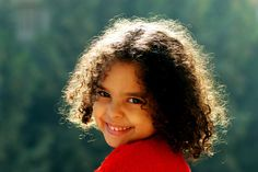 Kinder, Ägypten, Gesichter, Lächeln, Lockig, Haar, Afro