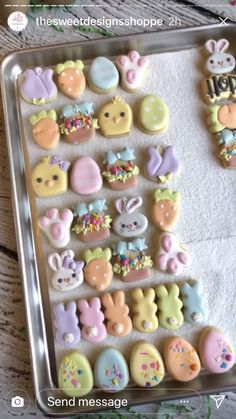 Ideas Cupcakes Decoration Easter Food For 2019 Mini Cookies, Fancy Cookies, Iced Cookies, Cupcake Cookies, Sugar Cookies, Shortbread Cookies, Easter Cupcakes, Easter Cookies, Easter Treats