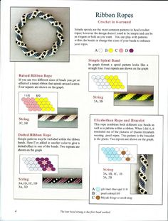 Patterns and Graphing for Bead Crochet Ropes