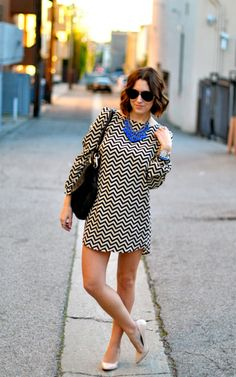 @Christine Cameron wearing #chevron so well!
