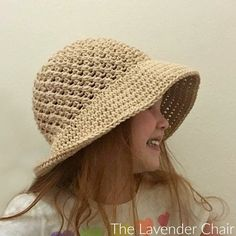 Crossed Double Sun Hat (Infant - Child) Crochet Pattern - The Lavender Chair