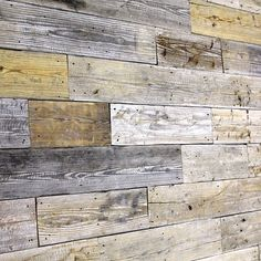 Wall using reclaimed wood. Planks USA.