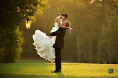 Lovely moment caught on camera - great way to capture the full effect of the dress as well!