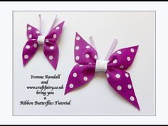 How to make a ribbon butterfly - YouTube