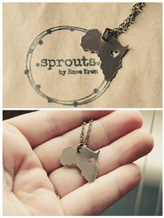 Personalized Africa Necklace $30 on Etsy!