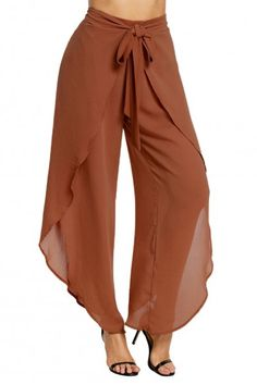 Orange Front Tulip Palazzo Slit Tie Pants Source by bessakhedidja fashion pants style Clothing Patterns, Dress Patterns, Fashion Essentials, Fashion Tips, Fashion Design, Latest Fashion, Fashion Trends, Fashion Pants, Fashion Dresses