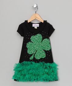 Green Sparkle Lucky Charm Ruffle Dress - how perfect for St. Patrick's Day!!!!