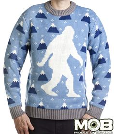 bfb0cd0c69 Yeti Abominable Snowman Sweater from MIDDLEOFBEYOND.COM  middleofbeyond Ugly  Xmas Sweater