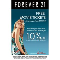 Forever 21 Free Movie Ticket Promotion