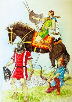 Thracian warriors, 424 BC