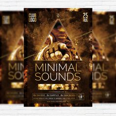 Minimal Sounds Vol.3 - Premium Flyer Template + Facebook Cover http://exclusiveflyer.net/product/minimal-sounds-vol-3-premium-flyer-template-facebook-cover/