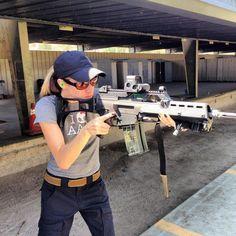 Nikki Raye rocking a G36K Air Soft Gun