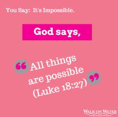 God says.... #walkonwater