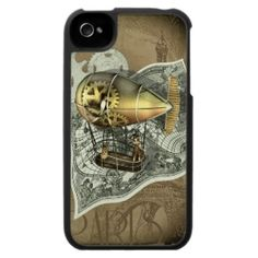 steampunk iphone cases | Steampunk Dirigible Air Tour Iphone 4 Case « iPad Cases
