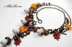 beside crochet: قلادات كروشية مدهشة.Amazing crocheted necklaces