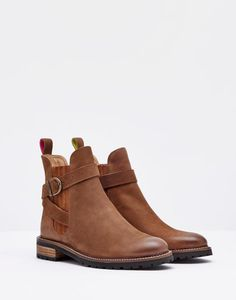 Joules Hampton Leather Ankle Boots