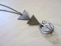 Herkimer Diamond Vintage Cage Triangles by ChrissyGemmillJewels, $56.00