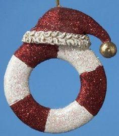 nautical christmas ornaments | CLEARANCE Life Preserver Nautical Christmas Tree Ornament New Holiday