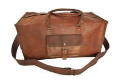 RusticTown Handmade 24 Inch Square Large Leather Duffel Bag Travel Bag Overnight Bag RusticTown http://www.amazon.com/dp/B00KF68NSK/ref=cm_sw_r_pi_dp_Jmx2tb1E16W7YE44
