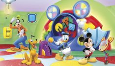 Mickey Mouse Clubhouse Capers XL Wall Mural - Wall Sticker Outlet
