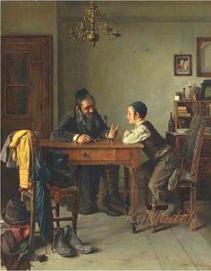 И все ж таки, как бы ни были прекрасны живописные портреты Кауфманна , славу лучшего еврейского художника ему принесли полотна жанровой тематики. Isidor Kaufmann (Austrian,…