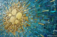 VisionShift mosaic by Sonia King Mosaic Artist in the Dallas Arts District                                                                                                                                                      More
