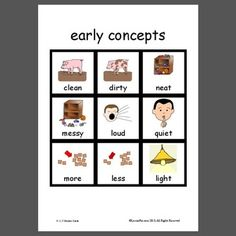Early Concepts - Pinned by @PediaStaff – Please Visit ht.ly/63sNtfor all our pediatric therapy pins